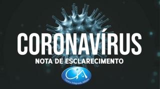 Nota de esclarecimento: CORONAVÍRUS
